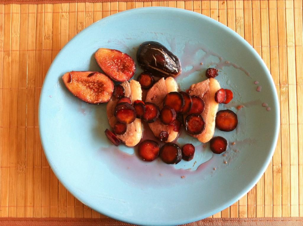 magret-figue-carottes